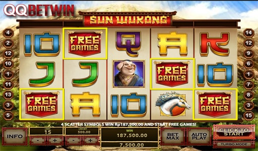 QQBetwin Bonus Free Spins Slot Game Online Terbesar-Sun Wukong